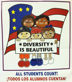 kids holding Diversity is Beautiful sign