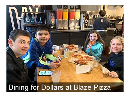 Dining for Dollars Blaze Pizza