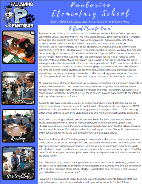 Paularino School Newsletter