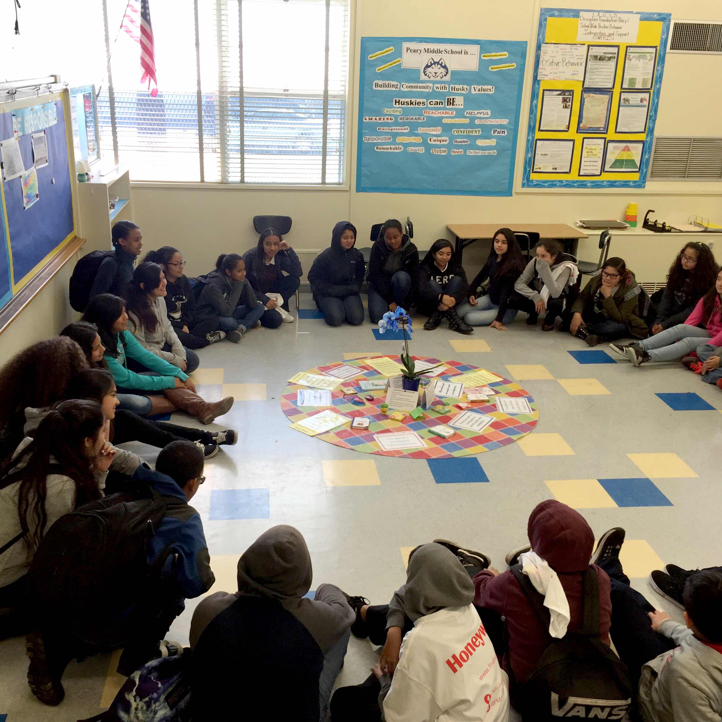 Community Building Circle to promote values and principles