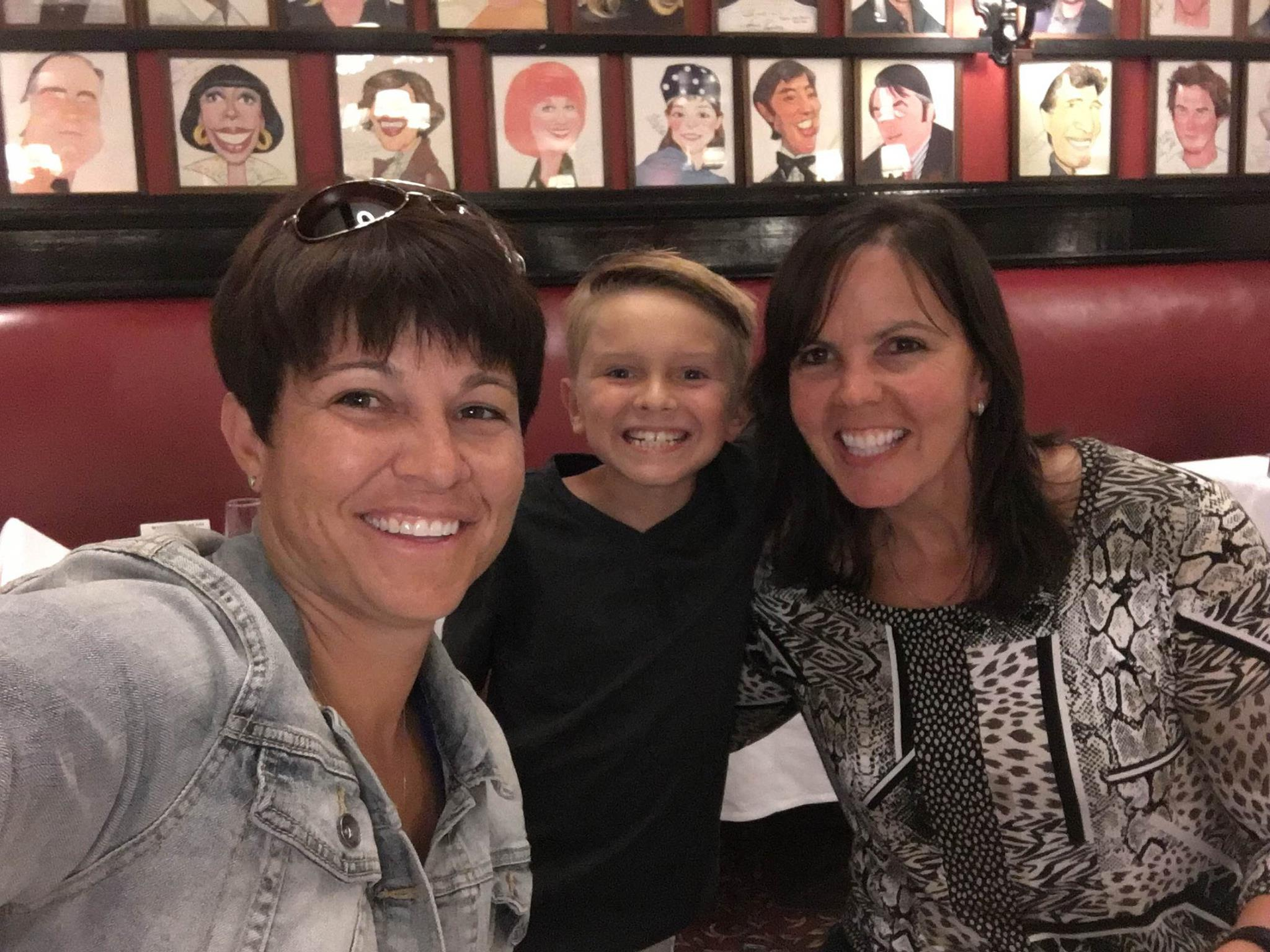 The Woods family at Sardi's Restaurant in New York