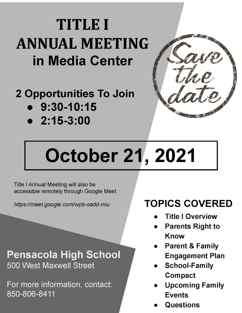 Annual Title 1 Meeting