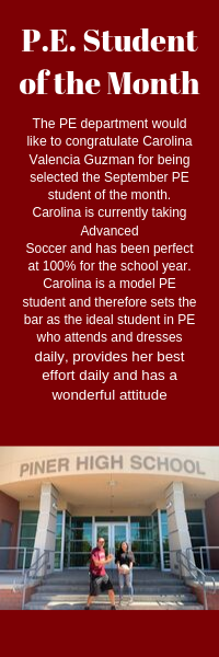 PE Student of the Month