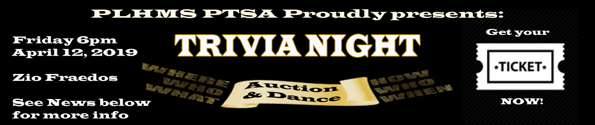 Trivia Night Ticket