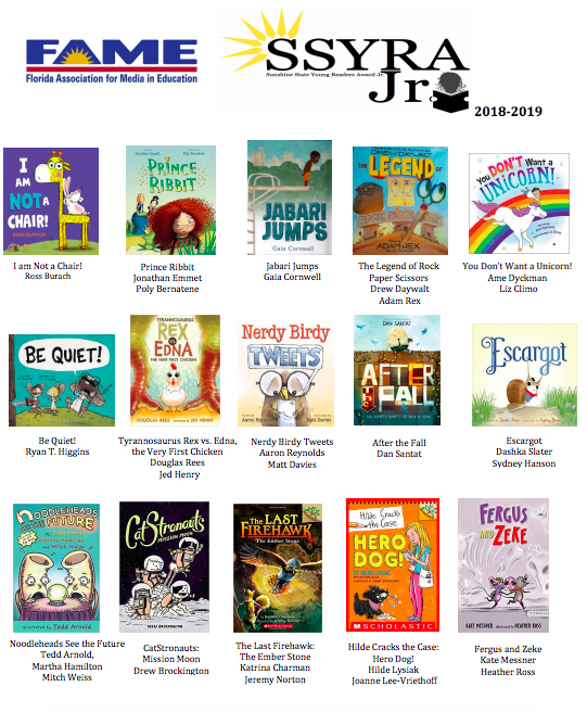 SSYRA Junior book list