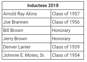 2018 Hall of Fame Inductees