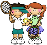 tennis boy and girl clip