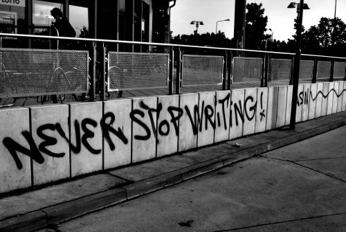 message never stop writing