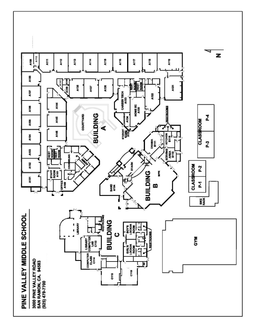 Pine Valley Campus Map