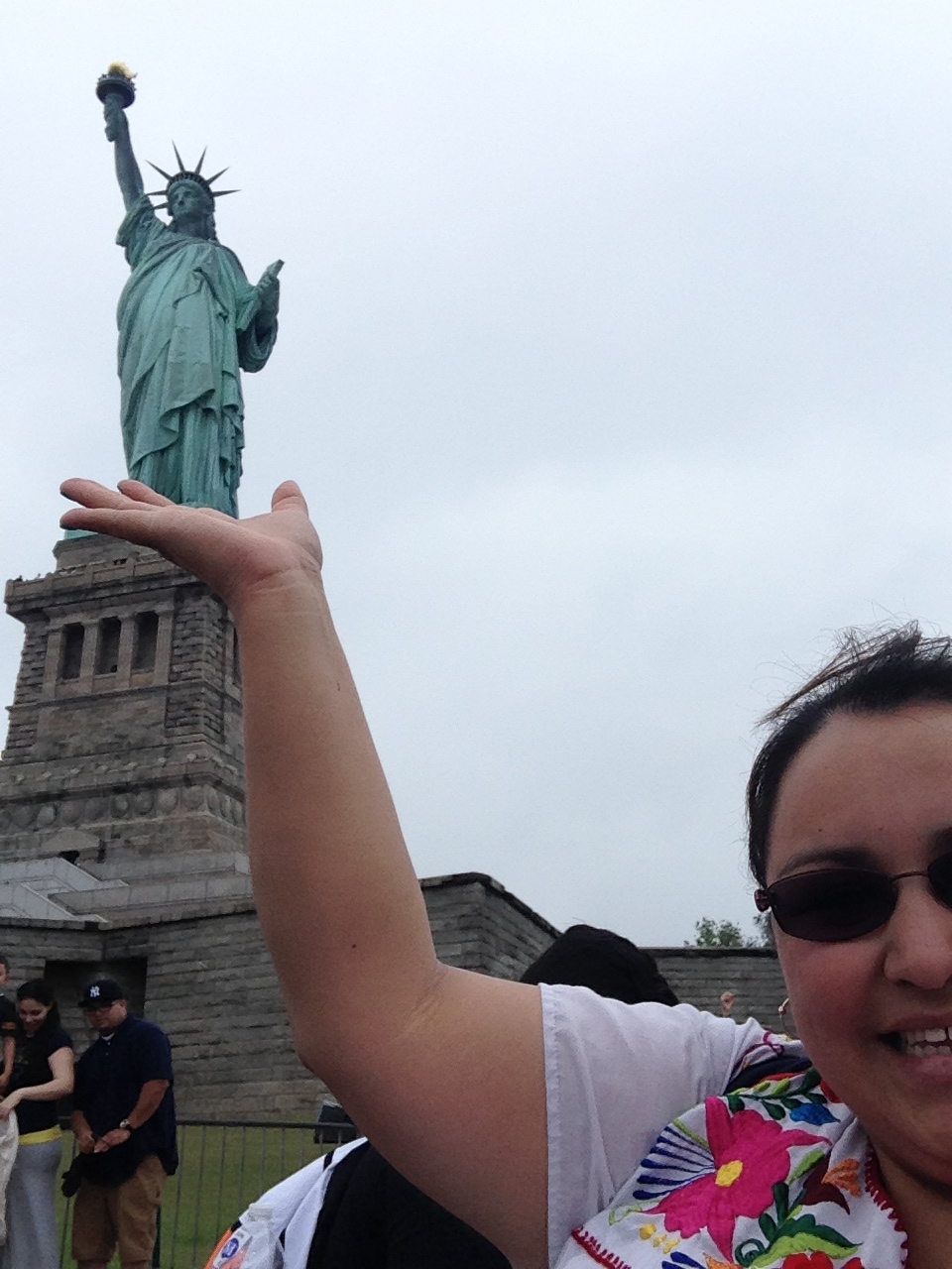 With Lady Liberty - New York City, 2014