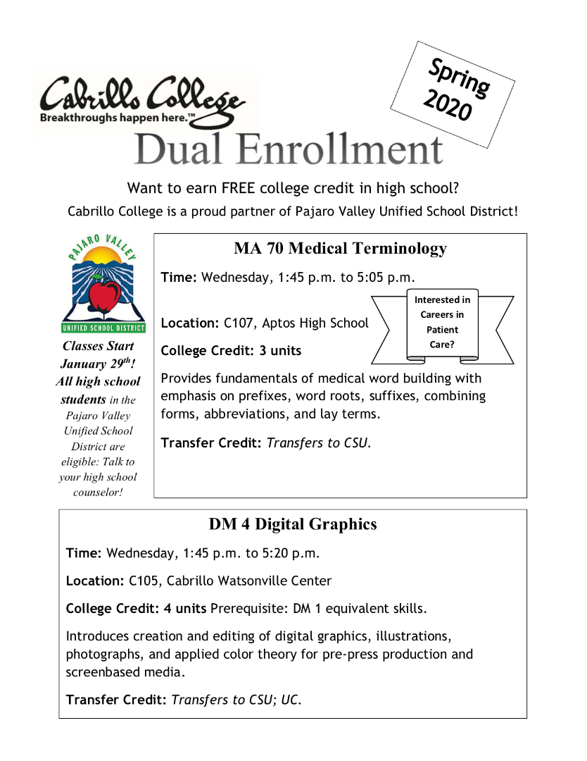 Fill out the dual enrollment interest form (on the left)