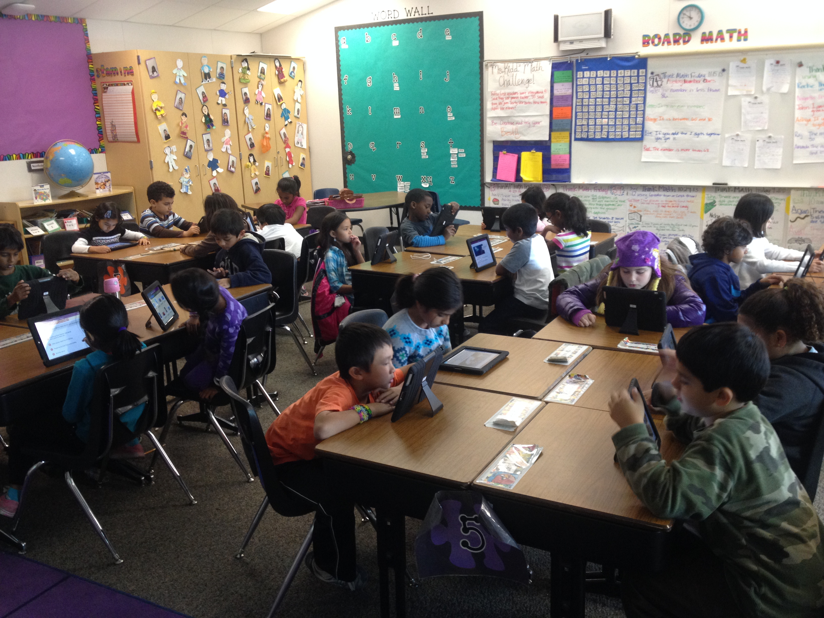 Students enjoy using the Ipads to engage in various technology based activities to supplement the 2nd grade curriculum.