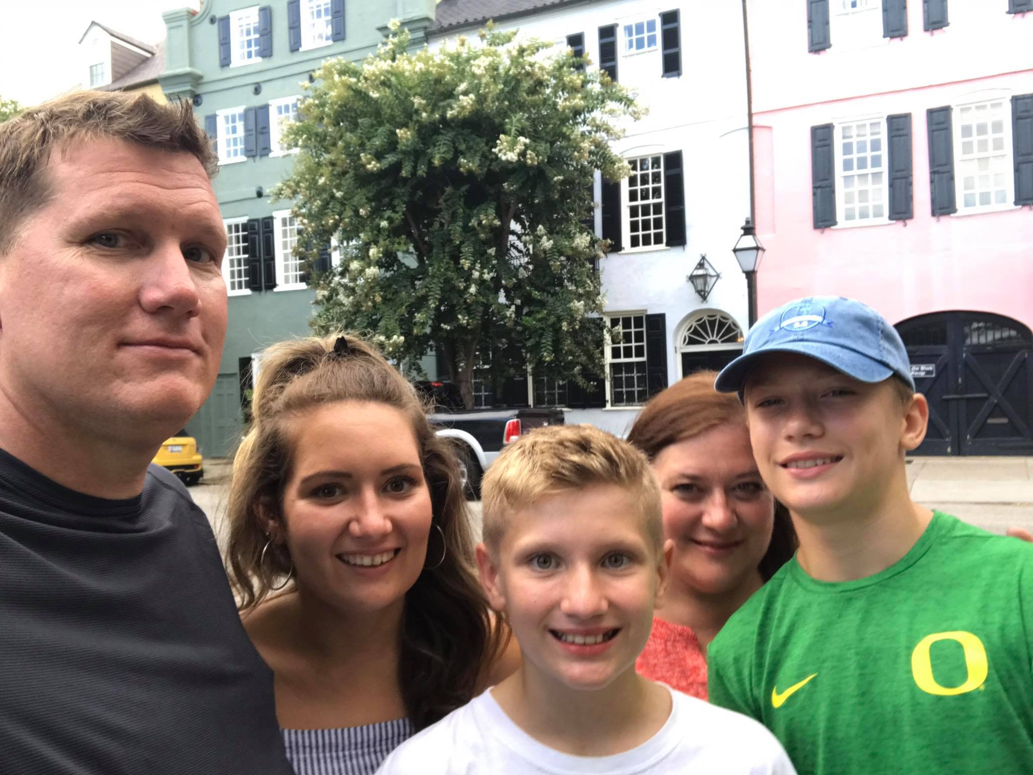 Miss DeBruhl with her family in South Carolina this summer!
