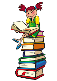 Little Girl on Stack of Books