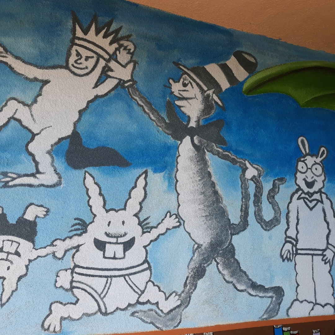 Library Mural (Cat in the Hat)