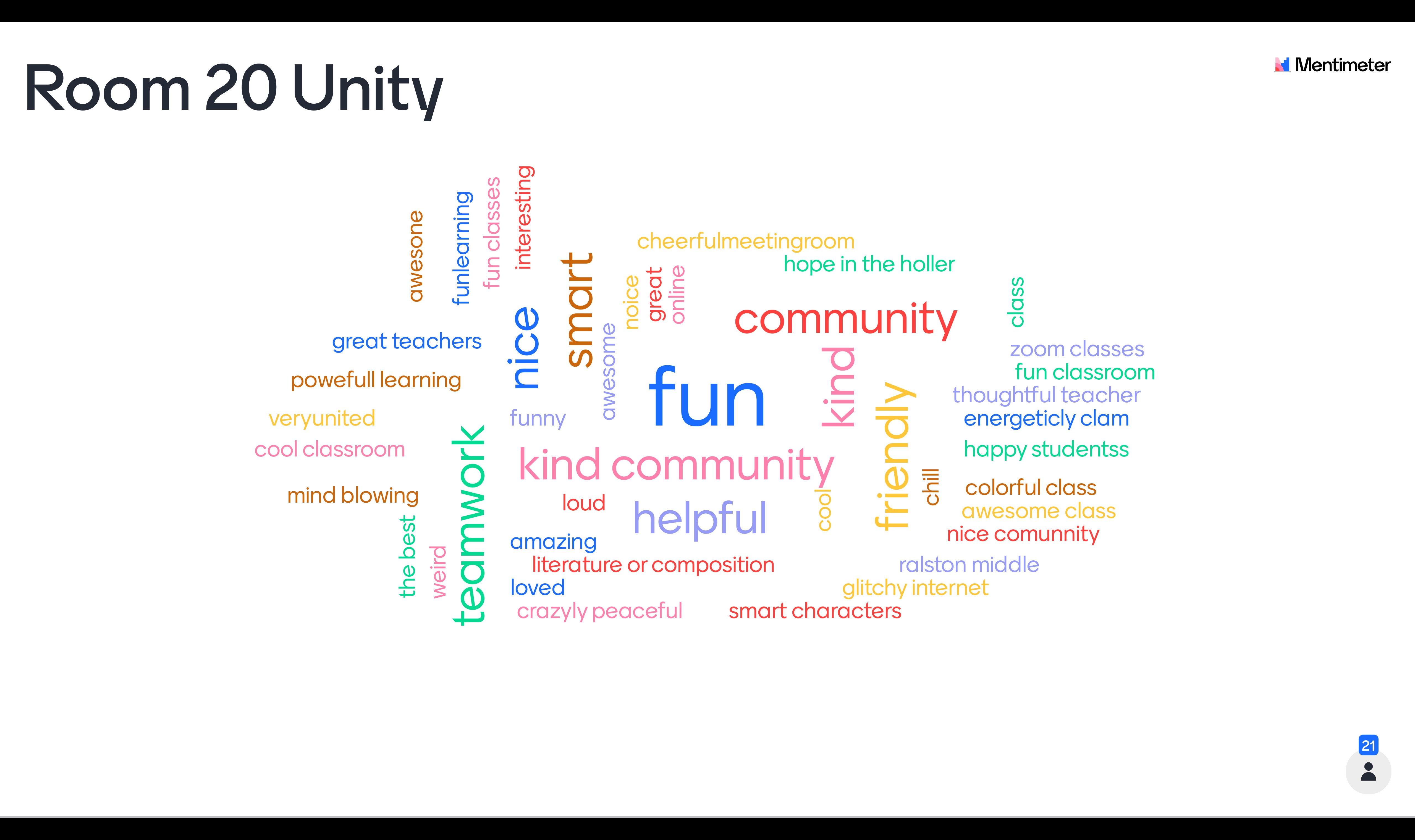 Virtual Learning in Room 20 Unity