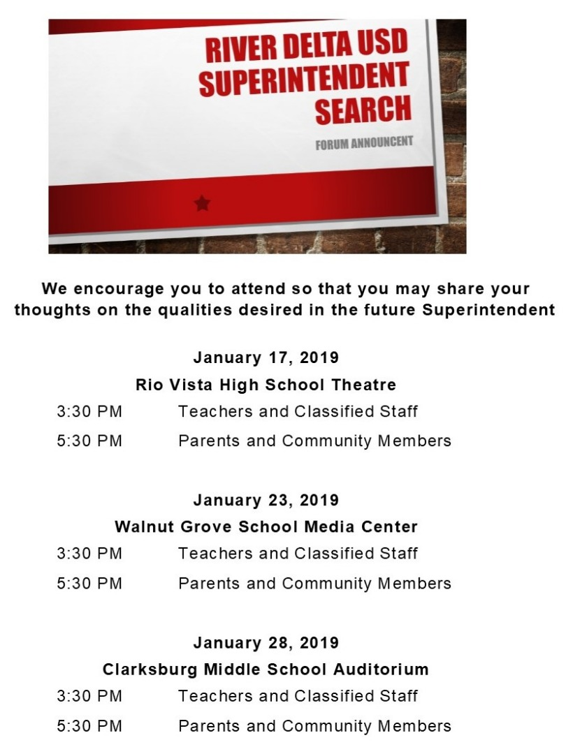 Superintendent Search Forum Announcement