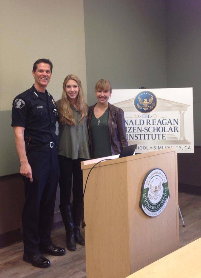 Royal Brown Bag speader series with Simi Valley Police Chief Mitch McCann