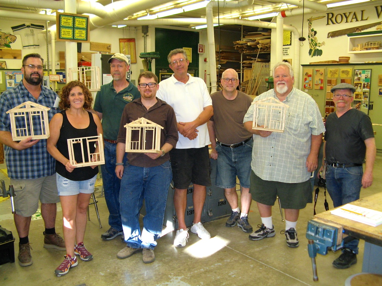 District Teachers at the annual Royal kick-off making cross-cut sleds for their  classrooms!