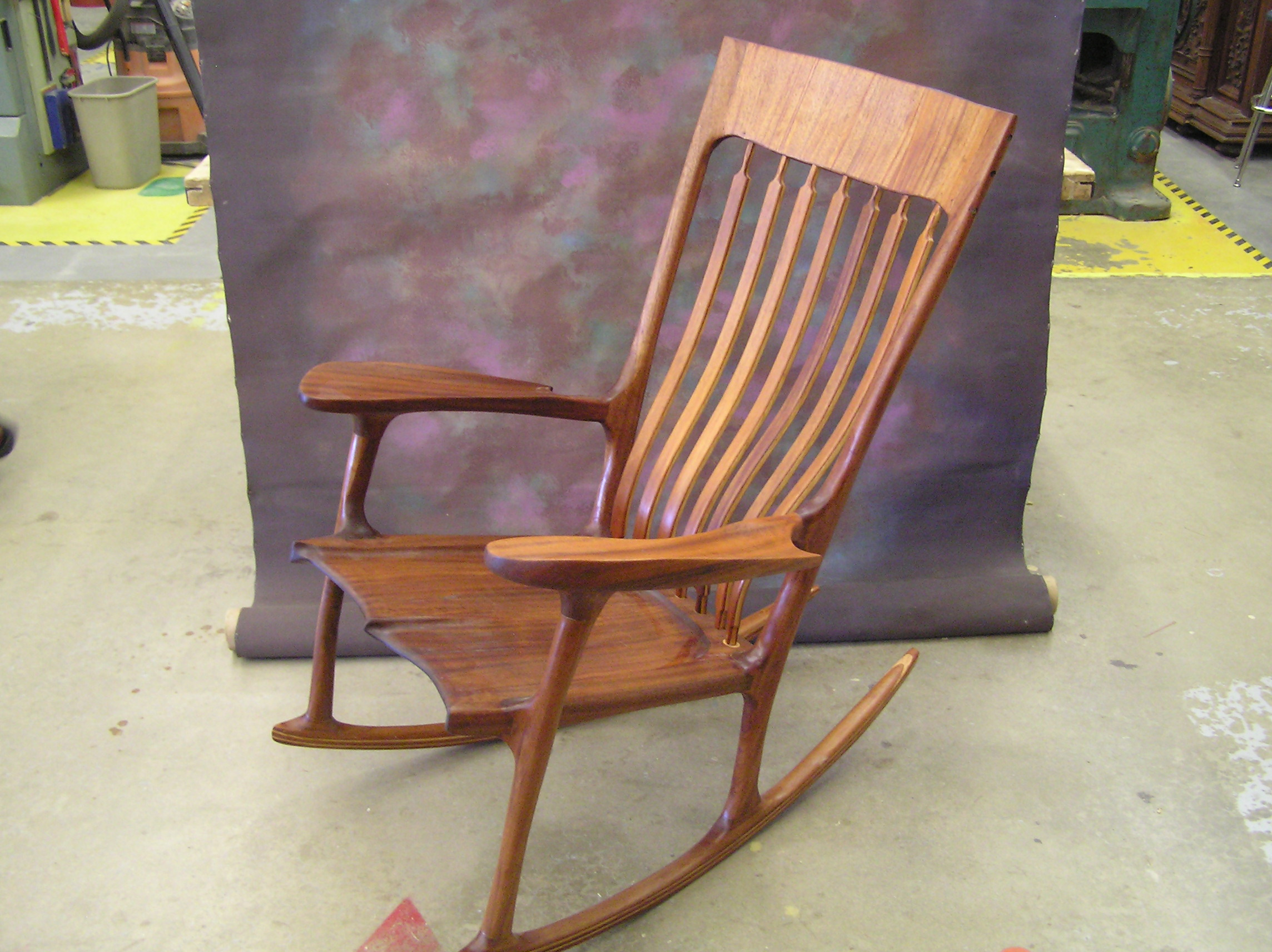 Sam Malloof Style Rocking Chair