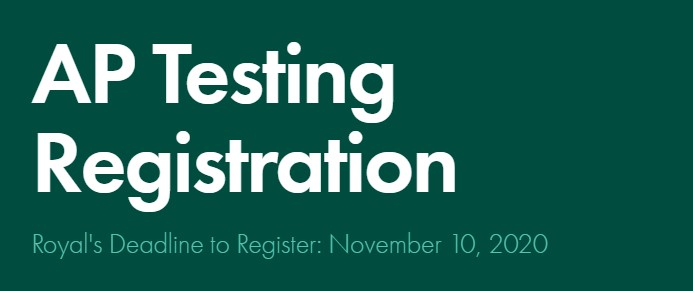 AP Testing Registration Link
