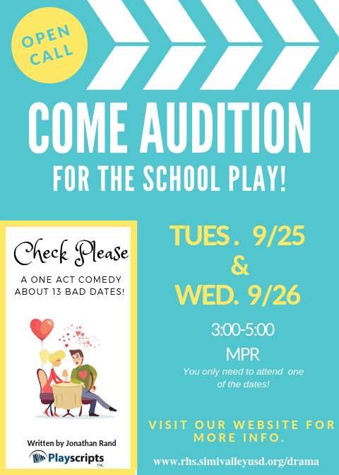 Auditions...Next Week!
