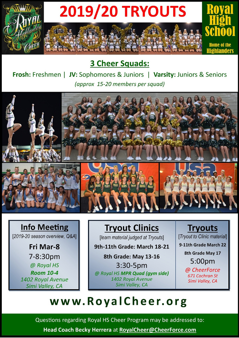 2019/20 Tryouts