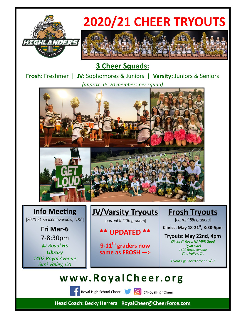 20/21 Tryout Dates