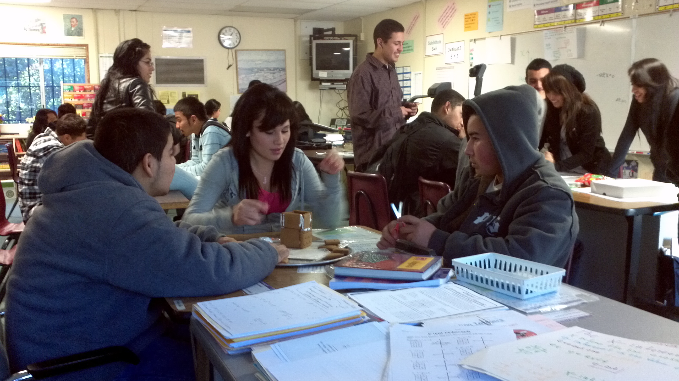 Math Club during activity period