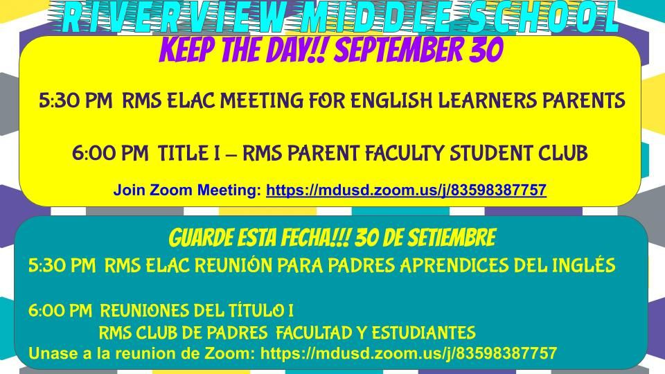 ELAC TITLE ONE MEETING