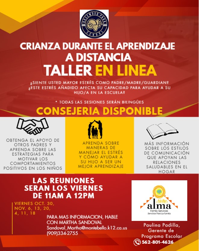 Distance Learning Spanish Flyer