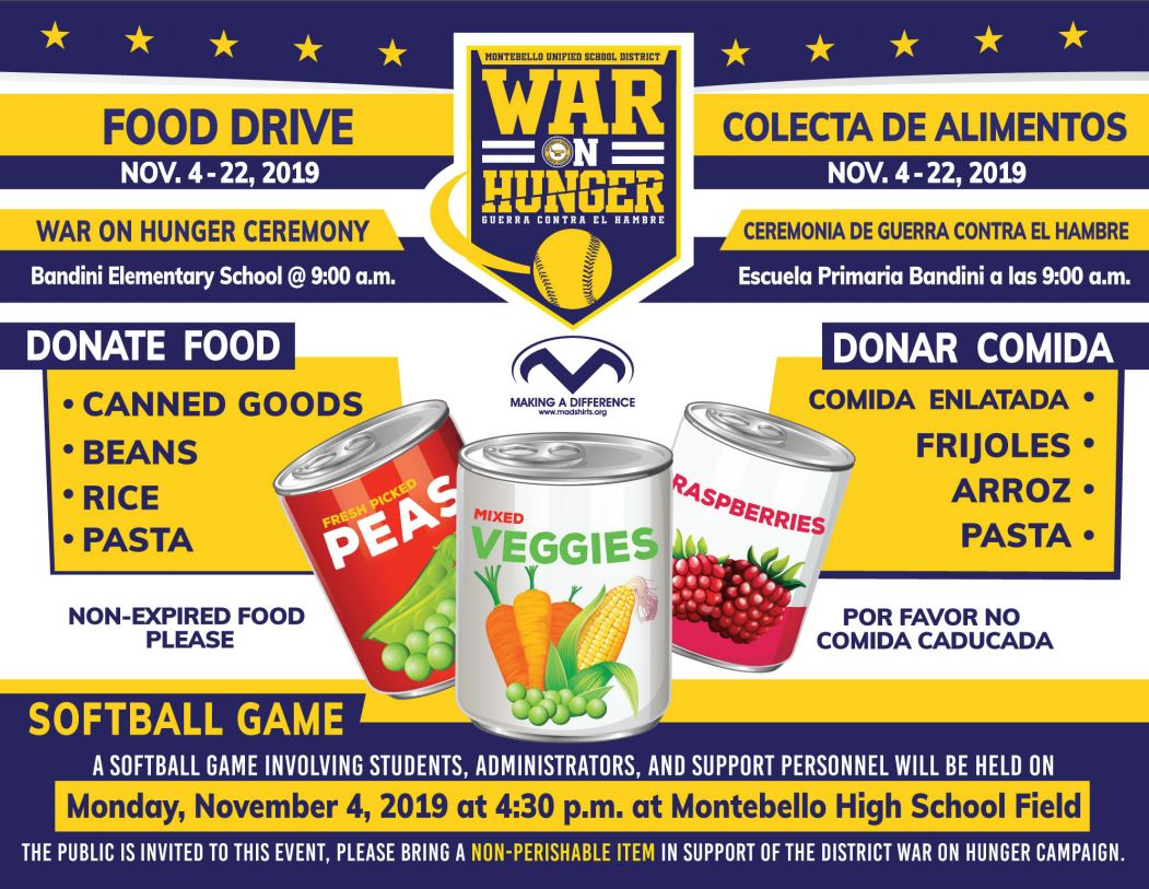 Food Drive War on Hunger