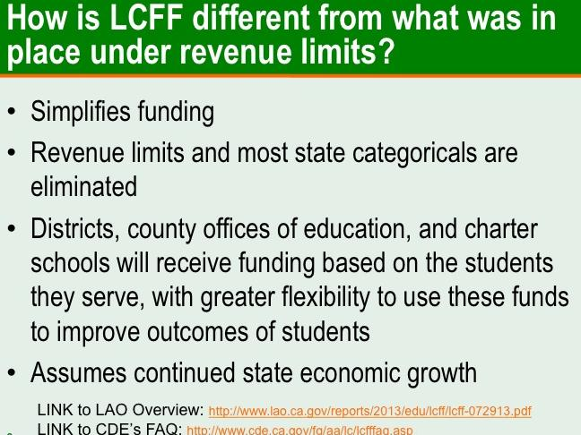 Local Control Funding Formula (LCFF) and Local Control