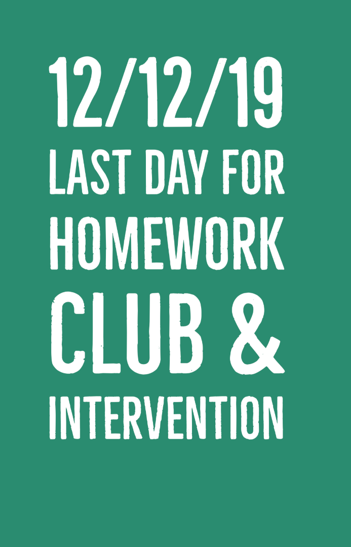 Last Day for Homework Club