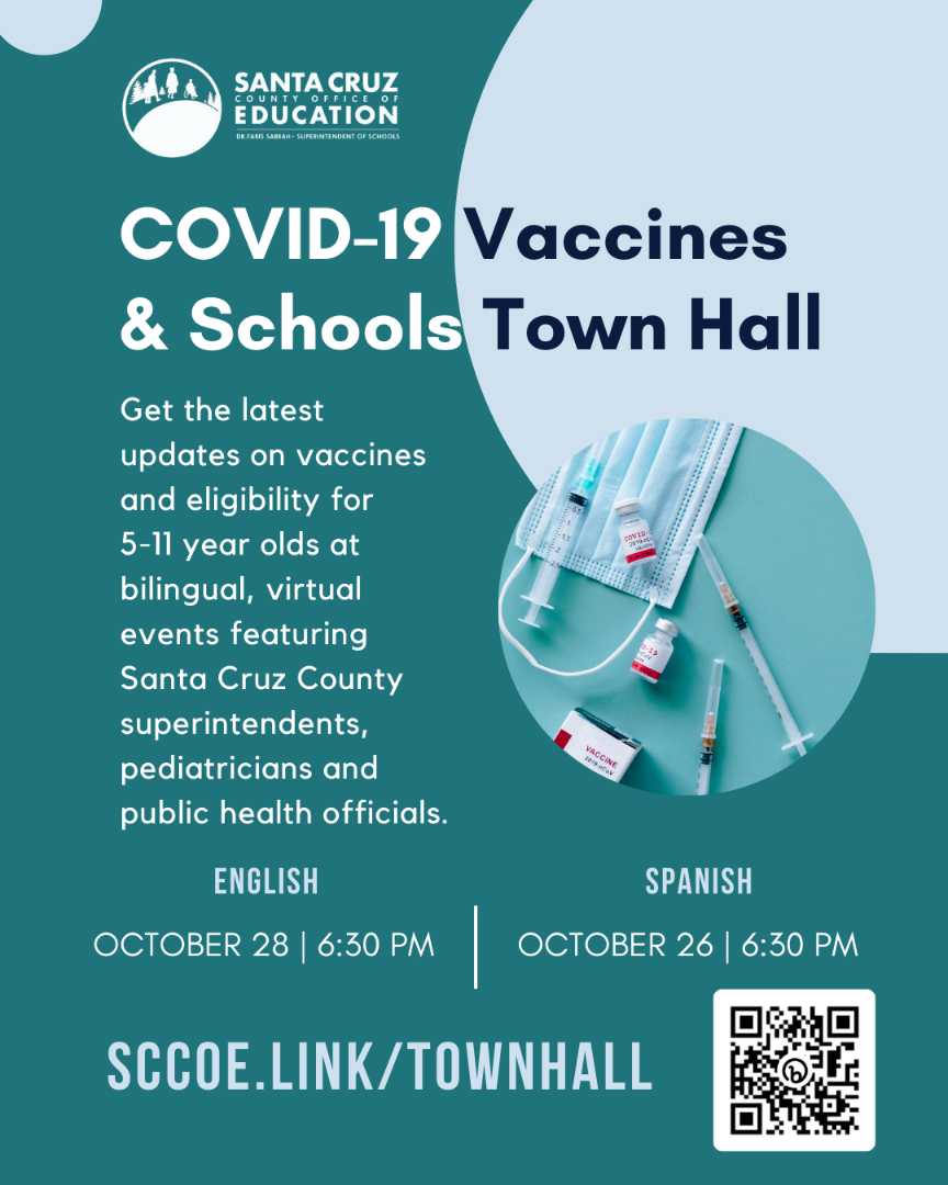 COVID Town Hall English flyer