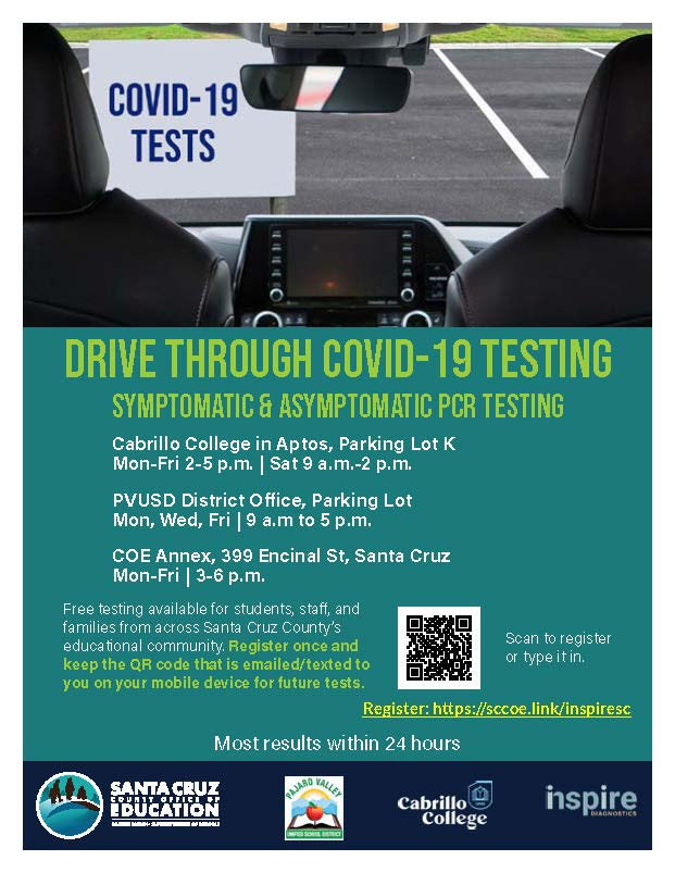 flyer for drive through covid-19 testing