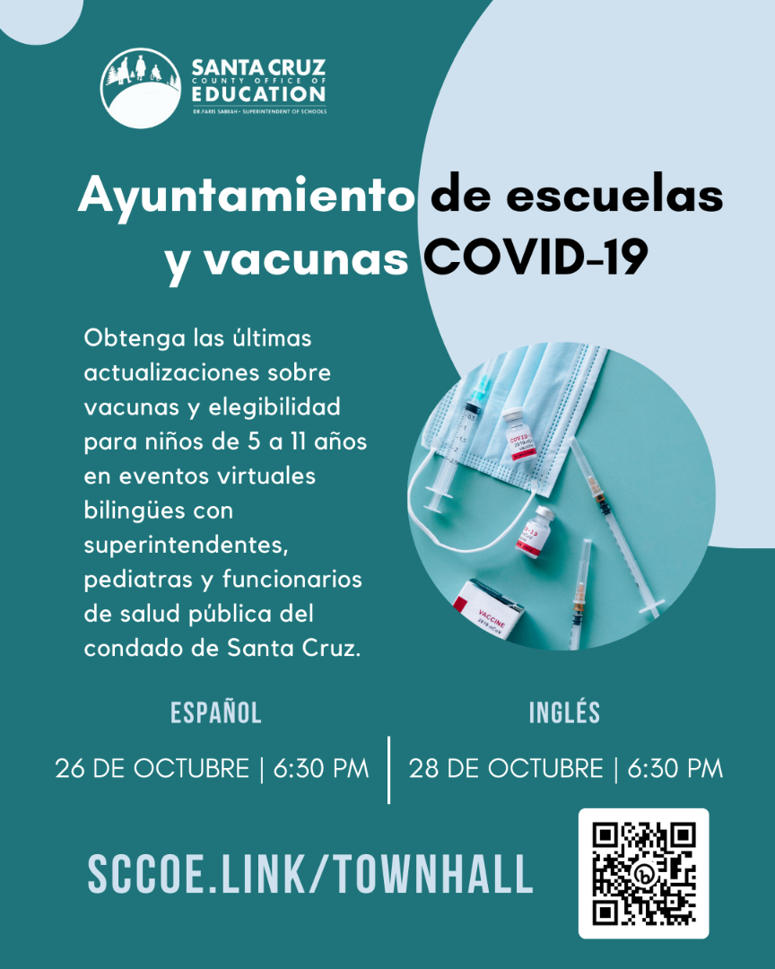 COVID Town Hall Spanish flyer