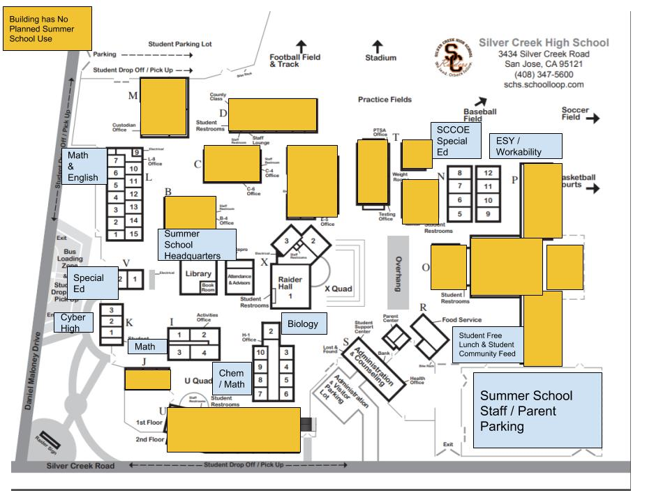 SCHS Summer School map 2018