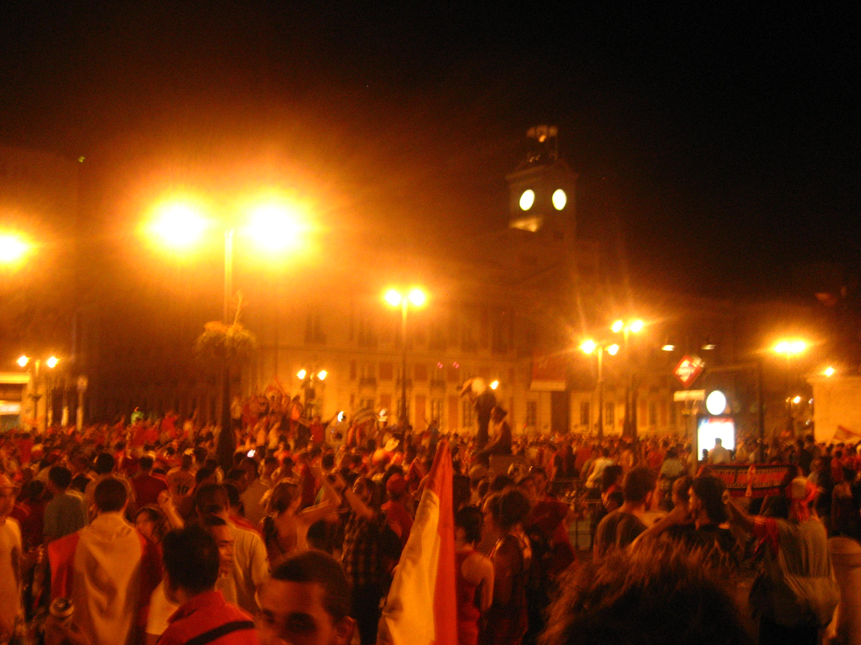 Madrid after Spain won the World Cup