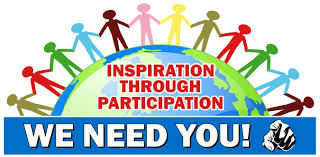 Inspiration through Participation. We Need you!