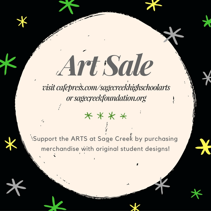Arts Merchandise for sale via Cafe Press!