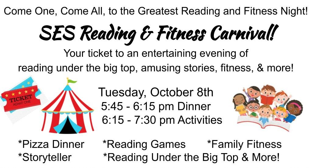 Reading & Fitness Carnival Flyer