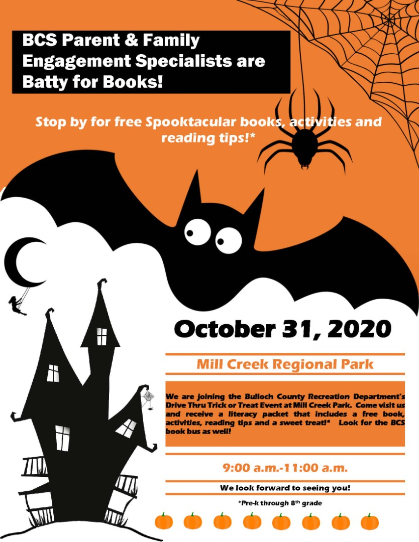 Family Engagement Specialists are Batty for Books!