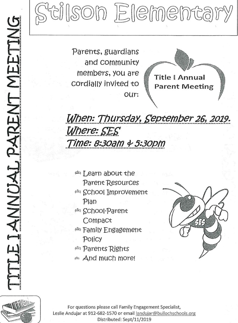 Title One Annual Parent Meeting