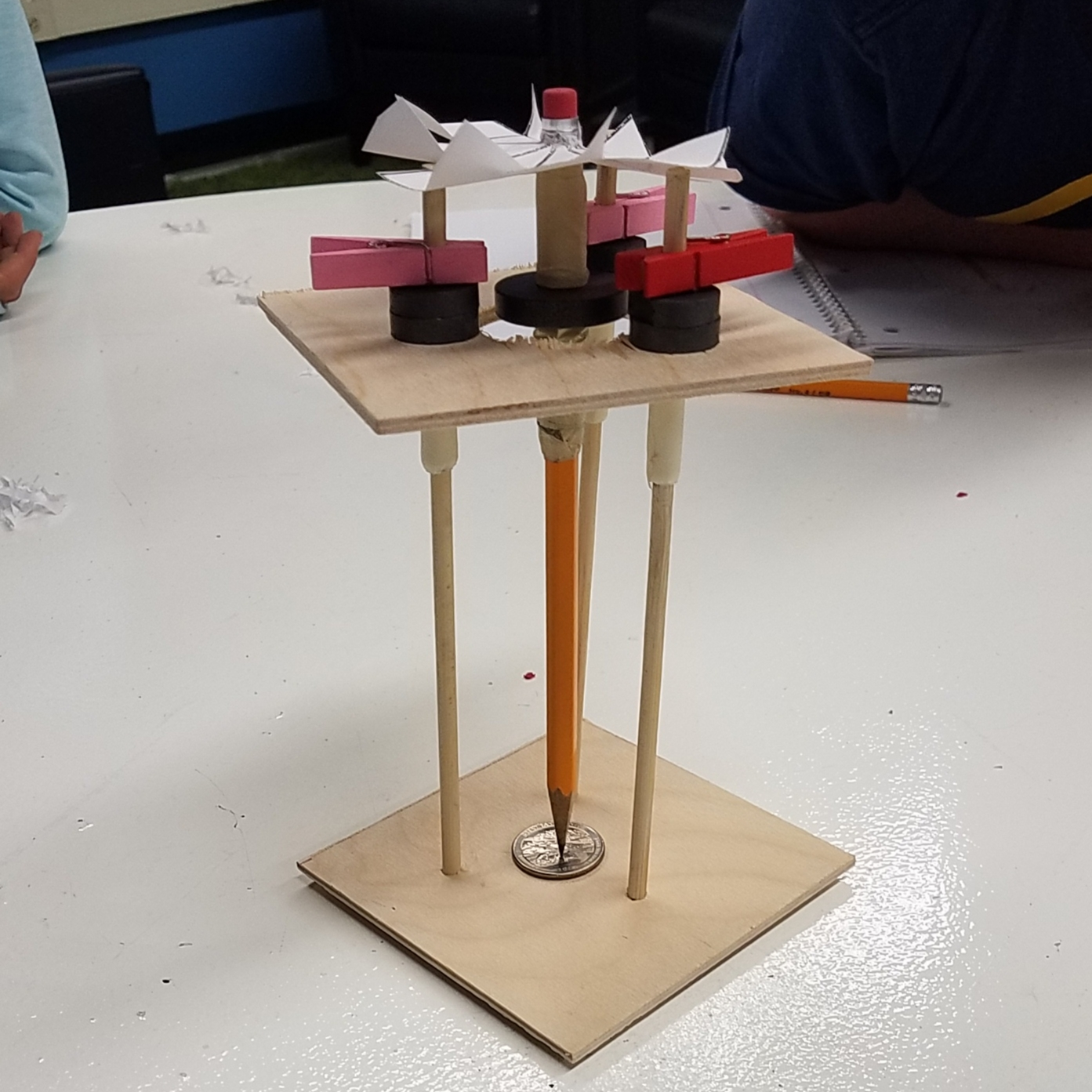 3rd Graders learn to build a Magnetic Wind Turbine