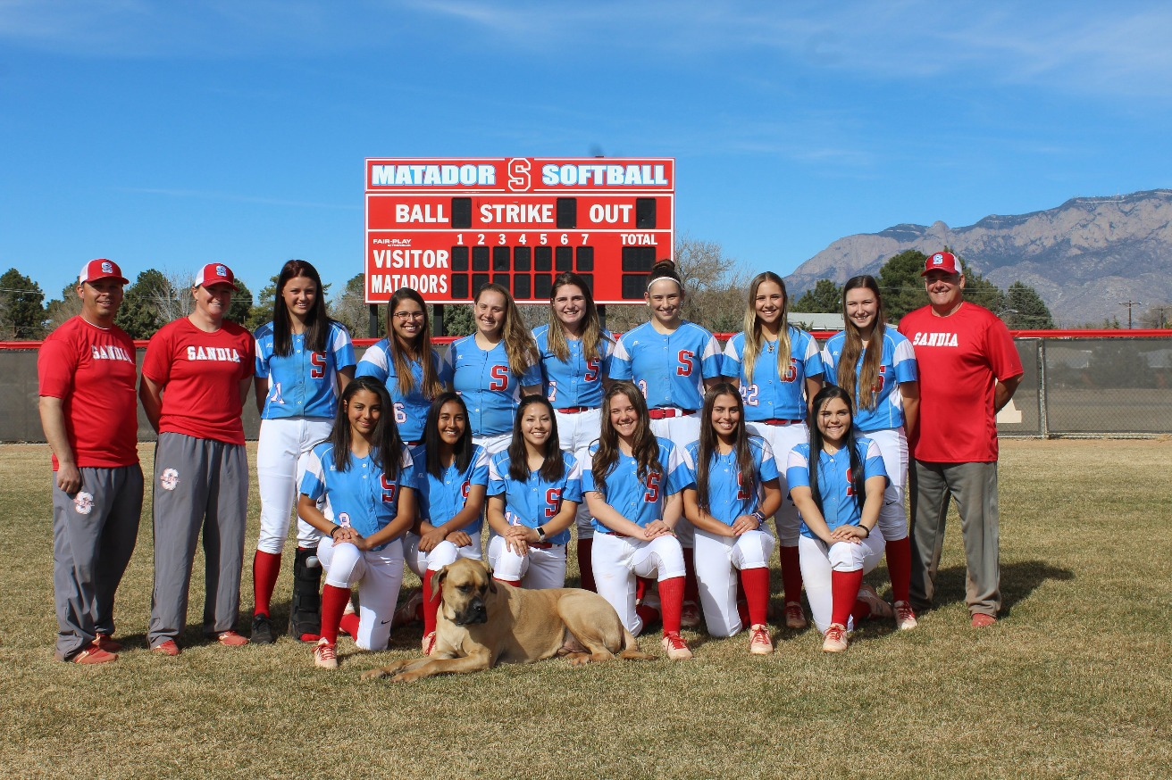 Group photo of the Softball team
