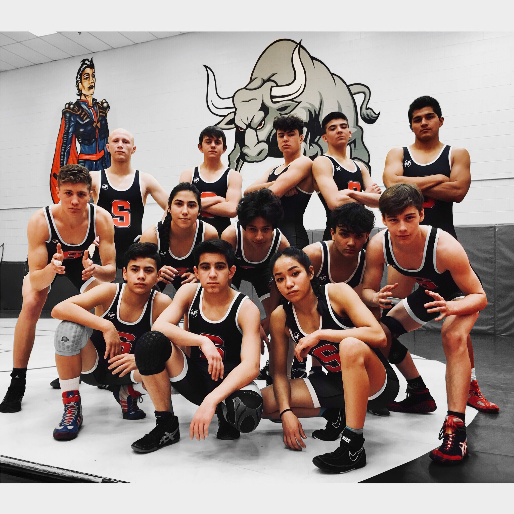Group photo of the Wrestling team