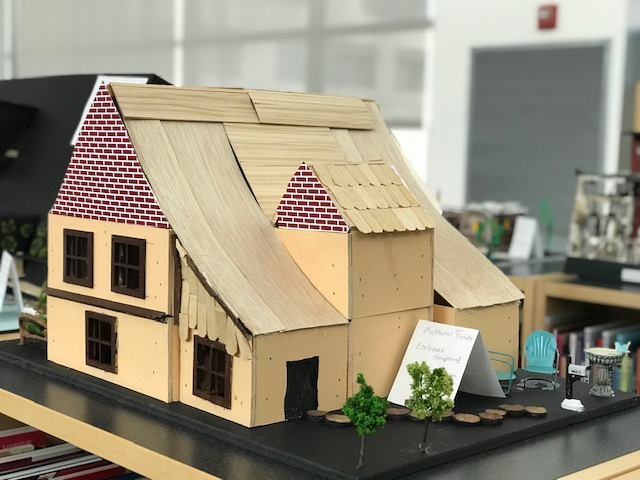 Model home with sloped roof