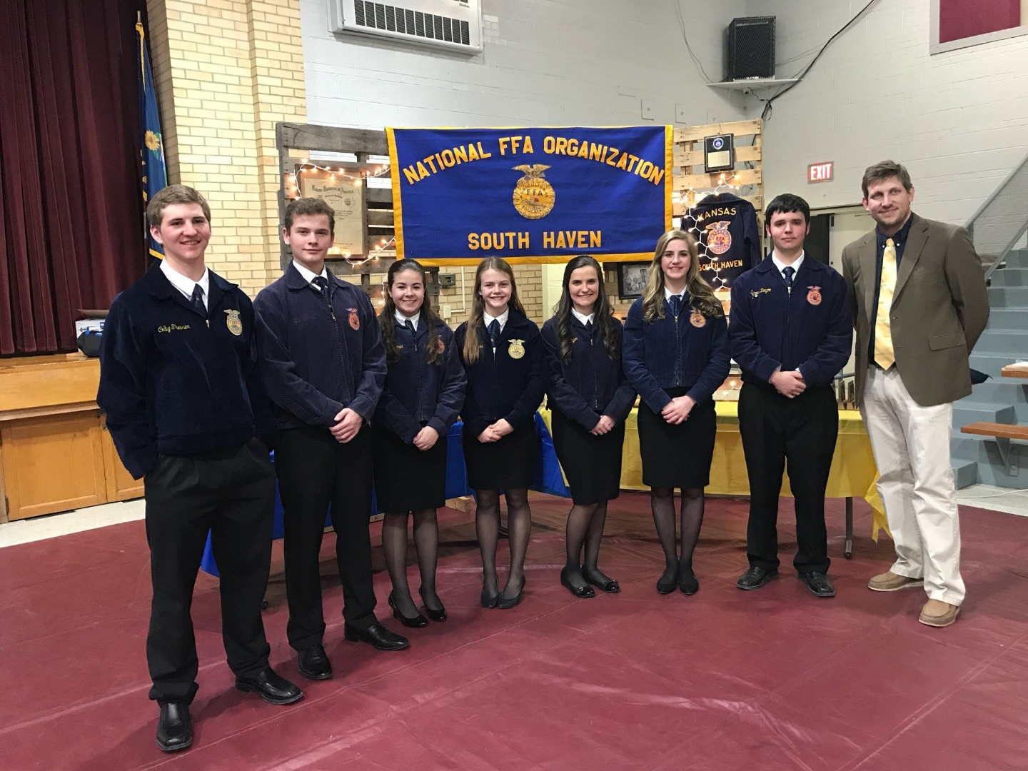 The 2018-19 South Haven FFA Officers
