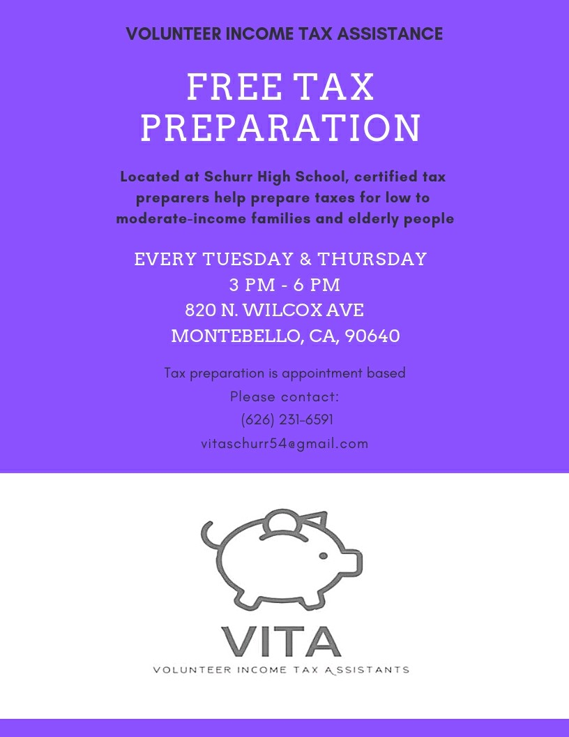 Free Tax Prep Tue Thursday 3-6pm at library